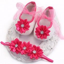 Комплект повязка и туфельки  (арт. O-010)