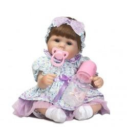 Реборн кукла девочка в сиреневом (арт. 8-29)