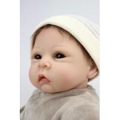 Кукла  reborn мальчик с мишкой (арт. 9-6)