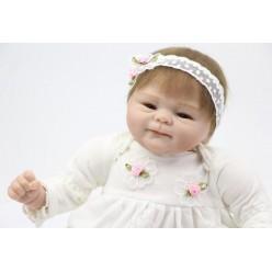 Кукла реборн Кнопочка с розочкой (арт. 7-4)