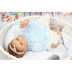 Кукла реборн с голубой ленточкой (арт. 7-3)