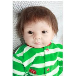 Reborn кукла в зеленом с мишкой (арт. 4-19)