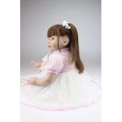 Кукла  реборн с двумя хвостиками (арт. 4-15)