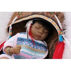 Этническая кукла реборн сплюшка (арт. 14-9)