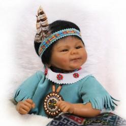 Этническая кукла реборн в голубом (арт. 7-8)