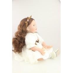 Девчушечка в белом (не парик)  (арт. 3-1)