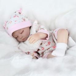 Маленькая кукла реборн спящая (арт.20-45)