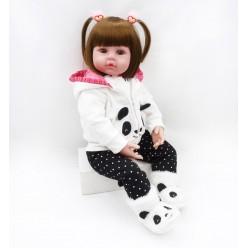 Кукла реборн в костюме панда