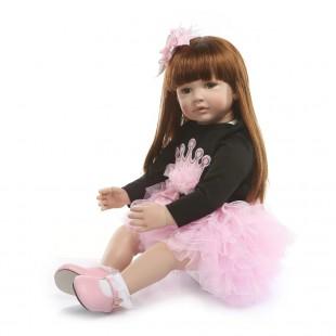 Реборн кукла с длинными волосами принцесса