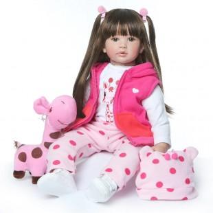 Реборн кукла с длинными волосами