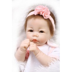Кукла  reborn девочка с полуторсом (арт. 17-1)