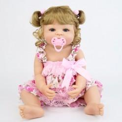 Cиликоновая кукла реборн блондинка (арт.2-106)