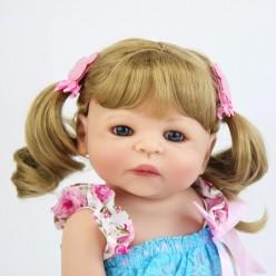 Cиликоновая кукла реборн блондинка (арт.2-107)