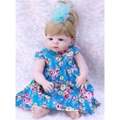 Cиликоновая кукла реборн в летнем платье (арт.2-83)