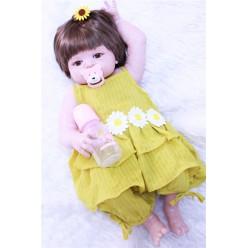 Cиликоновая кукла реборн в летнем платье (арт.2-85)