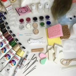 Стартовый набор для создания реборна - молд девочка с открытыми глазами
