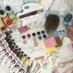 Стартовый набор с акриловыми красками для создания реборна без молда