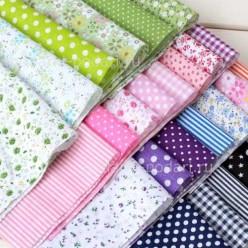 Набор тканей различных расцветок для поделок