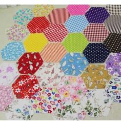 100 штук ткани шестиугольник